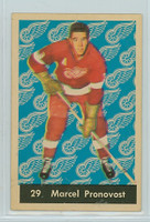 1961-62 Parkhurst Hockey 29 Marcel Pronovost Detroit Red Wings Very Good to Excellent