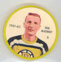 1961-62 Shiriff Hockey Coins 6 Don McKenney Boston Bruins Near-Mint