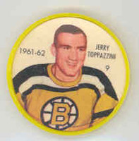 1961-62 Shiriff Hockey Coins 9 Jerry Toppazzini Boston Bruins Near-Mint