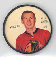 1961-62 Shiriff Hockey Coins 22 Stan Mikita Chicago Black Hawks Near-Mint