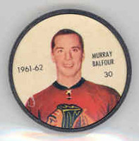 1961-62 Shiriff Hockey Coins 30 Murray Balfour Chicago Black Hawks Near-Mint