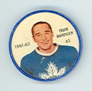 1961-62 Shiriff Hockey Coins 43 Frank Mahovlich Toronto Maple Leafs Excellent