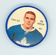 1961-62 Shiriff Hockey Coins 44 Tim Horton Toronto Maple Leafs Near-Mint Plus