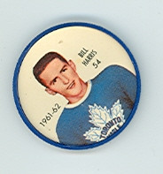 1961-62 Shiriff Hockey Coins 54 Billy Harris Toronto Maple Leafs Excellent to Mint