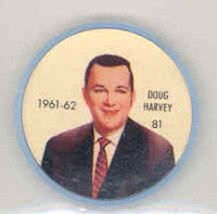1961-62 Shiriff Hockey Coins 81 Doug Harvey New York Rangers Near-Mint