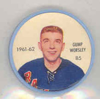 1961-62 Shiriff Hockey Coins 85 Gump Worsley New York Rangers Near-Mint