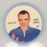 1961-62 Shiriff Hockey Coins 89 Harry Howell New York Rangers Near-Mint