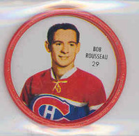 1962-63 Shiriff Hockey Coins 56 Bob Rosseau Montreal Canadiens Excellent to Mint