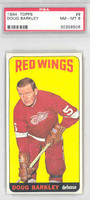 1964 Topps Hockey 9 Doug Barkley Detroit Red Wings PSA 8 Near Mint to Mint