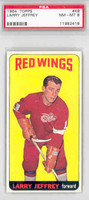 1964 Topps Hockey 49 Larry Jeffrey Detroit Red Wings PSA 8 Near Mint to Mint