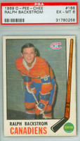 1969-70 OPC Hockey 166 Ralph Backstrom Montreal Canadiens PSA 6 Excellent to Mint