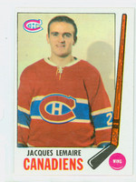 1969-70 Topps Hockey 8 Jacques Lemaire Montreal Canadiens Excellent to Mint