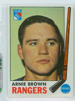1969-70 Topps Hockey 34 Arnie Brown New York Rangers Near-Mint Plus
