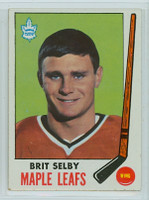 1969-70 Topps Hockey 48 Brit Selby Toronto Maple Leafs Near-Mint Plus