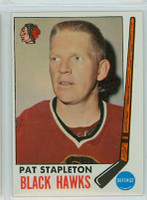 1969-70 Topps Hockey 69 Pat Stapleton Chicago Black Hawks Excellent to Mint