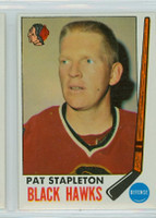 1969-70 Topps Hockey 69 Pat Stapleton Chicago Black Hawks Near-Mint