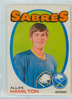 1971-72 OPC Hockey 49 Allan Hamilton Buffalo Sabres Excellent to Mint