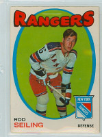 1971-72 OPC Hockey 53 Rod Seiling New York Rangers Excellent