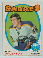 1971-72 OPC Hockey 163 Ron Anderson Buffalo Sabres Excellent to Excellent Plus