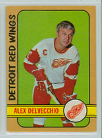 1972-73 OPC Hockey 26 Alex Delvecchio Detroit Red Wings Excellent to Mint