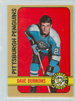 1972-73 OPC Hockey 133 Dave Burrows Pittsburgh Penguins Near-Mint