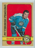 1972-73 OPC Hockey 154 Duane Rupp Pittsburgh Penguins Near-Mint