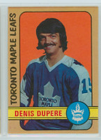 1972-73 OPC Hockey 167 Denis Dupere Toronto Maple Leafs Excellent to Mint