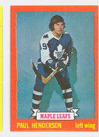 1973-74 Topps Hockey Paul Henderson Toronto Maple Leafs Near-Mint