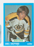 1973-74 Topps Hockey Greg Sheppard Boston Bruins Near-Mint Plus