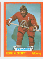 1973-74 Topps Hockey Keith McCreary Atlanta Flames Near-Mint