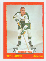 1973-74 Topps Hockey Ted Harris Minnesota North Stars Near-Mint