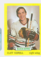 1973-74 Topps Hockey Cliff Koroll Chicago Black Hawks Near-Mint