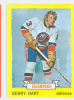 1973-74 Topps Hockey Gerry Hart New York Islanders Near-Mint
