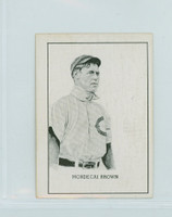 1950 Callahan HOF Mordecai Brown Chicago Cubs Excellent to Mint