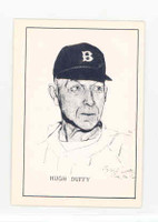 1950 Callahan HOF Hugh Duffy Boston Braves Near-Mint