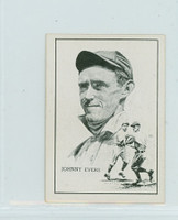1950 Callahan HOF Johnny Evers Chicago Cubs Near-Mint