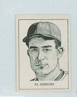 1950 Callahan HOF Al Simmons Philadelphia Athletics Excellent to Mint