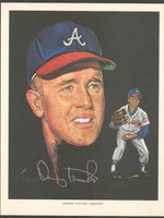 1966 Pure Oil Braves Denny Lemaster Atlanta Braves Near-Mint to Mint