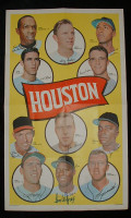 1969 Topps Team Posters 6 Astros Team Near-Mint