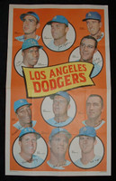 1969 Topps Team Posters 22 Dodgers Team Excellent to Mint