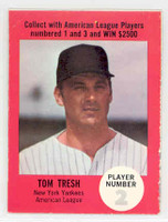 1968 Atlantic Oil Tom Tresh New York Yankees Excellent