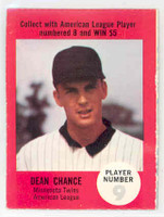 1968 Atlantic Oil Dean Chance Minnesota Twins Excellent to Mint