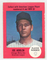 1968 Atlantic Oil Joel Horlen Chicago White Sox Very Good to Excellent