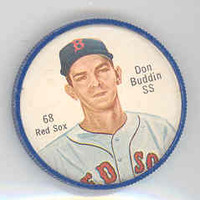 1962 Salada BB Coins 68 Don Buddin RED SOX  Boston Red Sox Near-Mint Plus