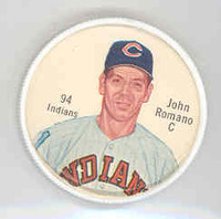 1962 Salada BB Coins 94 Johnny Romano Cleveland Indians Excellent to Mint