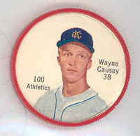 1962 Salada BB Coins 100 Wayne Causey Kansas City Athletics Excellent to Mint