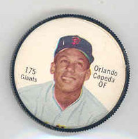 1962 Salada BB Coins 175 Orlando Cepeda San Francisco Giants Excellent to Mint