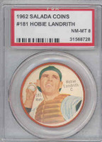 1962 Salada BB Coins 181 Hobie Landrith New York Mets PSA 8 Near Mint to Mint