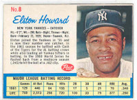 1962 Post Baseball 8 Elston Howard New York Yankees Excellent to Mint