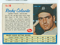 1962 Post Baseball 19 Rocky Colavito Detroit Tigers Near-Mint